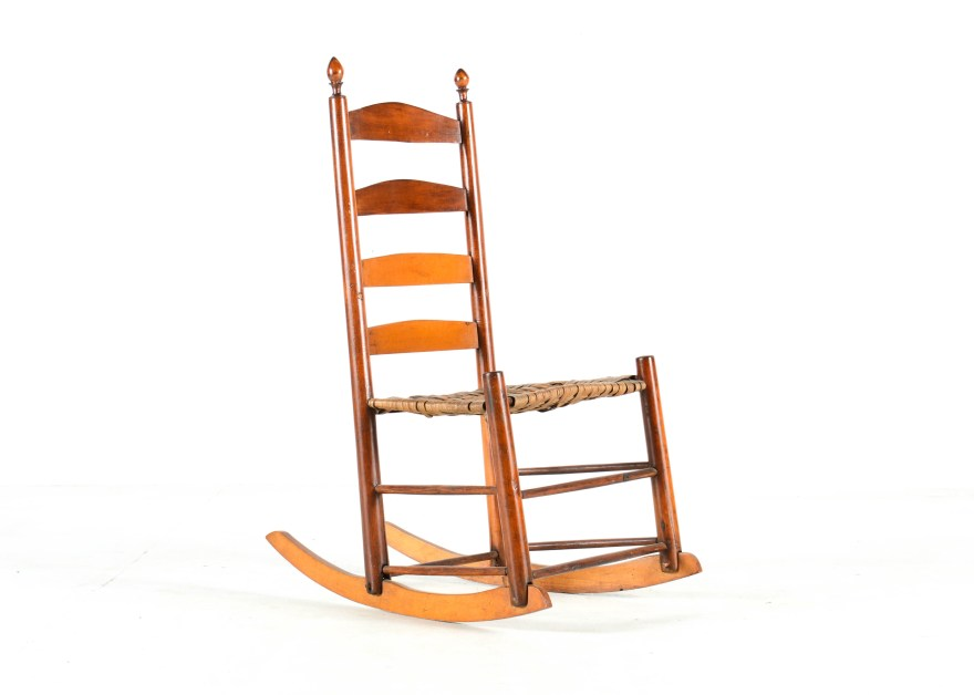 Antique Ladder Back Rocking Chair  EBTH