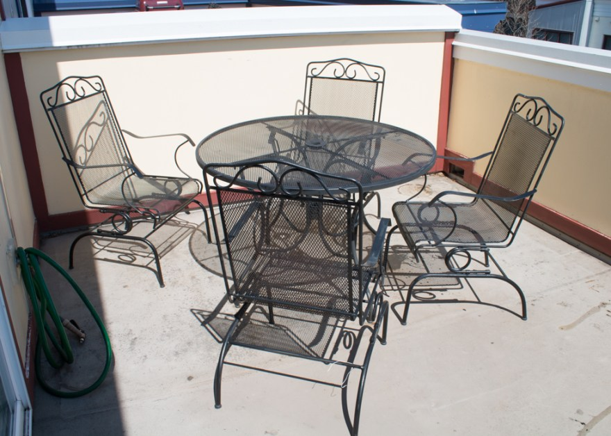 Outdoor Wrought Iron Patio Table And Chairs Plantation