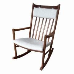 Danish Modern Rocking Chair Wooden Lynchburg Va Hans J Wegner For Tarm Stole Ebth