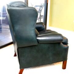 Teal Wingback Chair Dwr Salt Leather Reclining Ebth