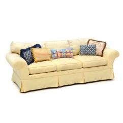 Baker Furniture Max Sofa Mauve Pale Yellow : Ebth