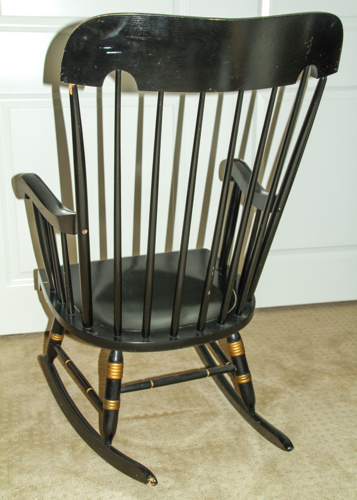Vintage Hitchcock Style Rocking Chair Ebth