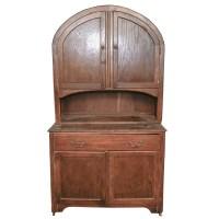Antique Dome Top Oak Hoosier Cabinet : EBTH