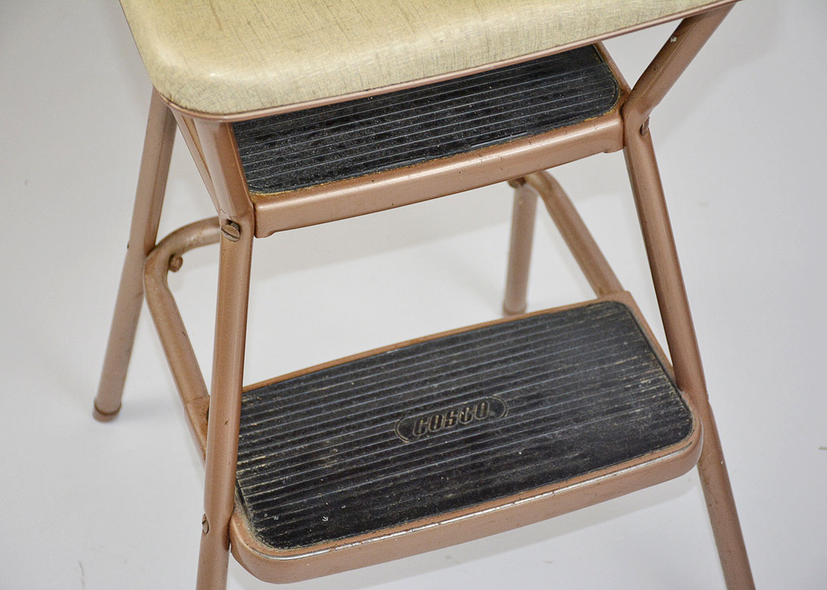 old fashioned kitchen chair step stool counter designs 1950s cosco convertible ebth
