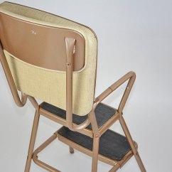 Old Fashioned Kitchen Chair Step Stool Curtain Ideas 1950s Cosco Convertible Ebth