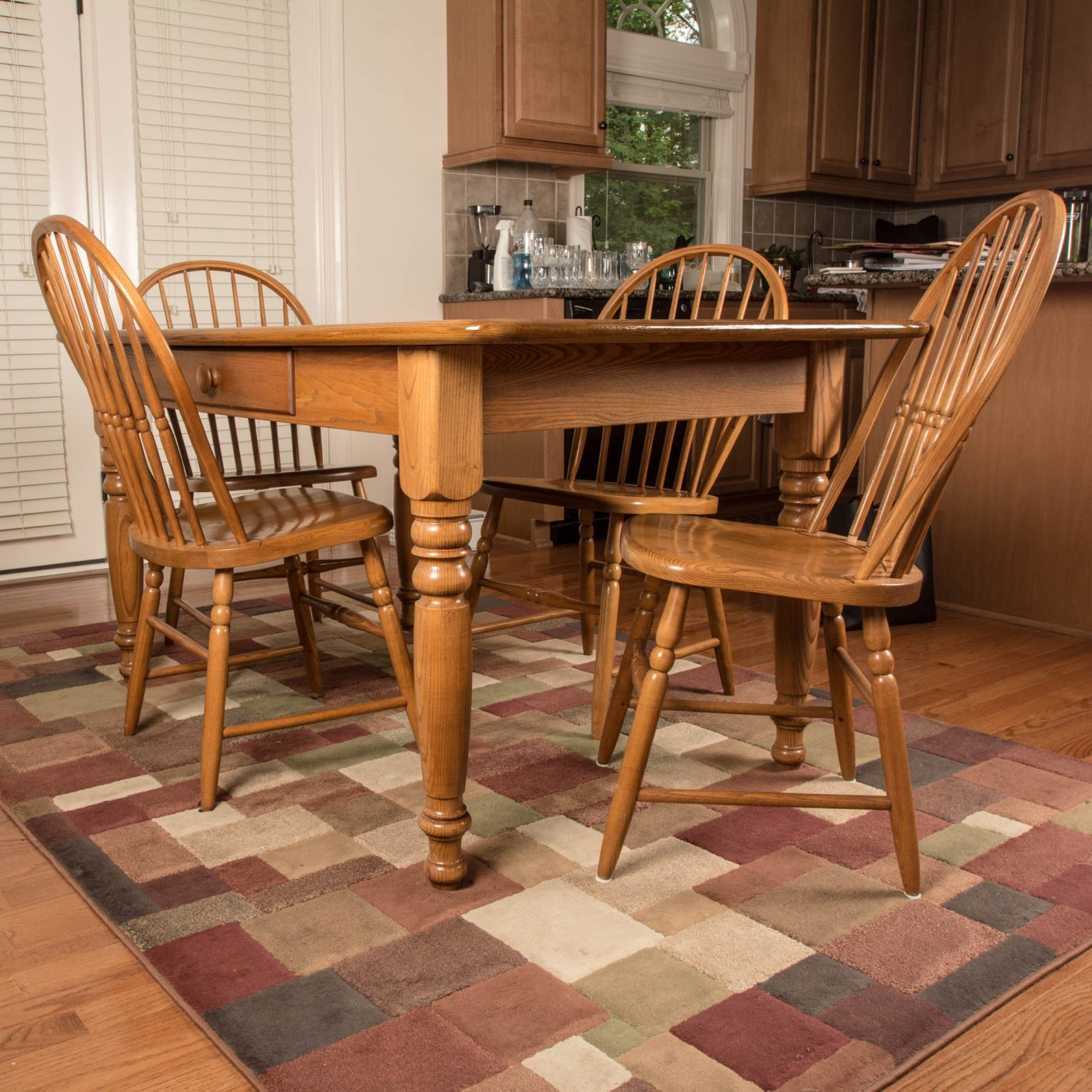 Farmhouse Dining Table And Chairs S Bent And Bros Oak Farmhouse Style Dining Room Table And