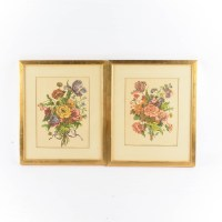 Pair of Framed Botanical Prints : EBTH