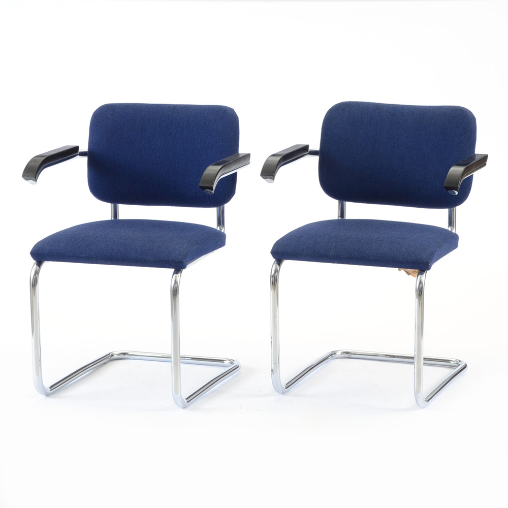 marcel breuer cesca chair with armrests folding picnic chairs b m pair of by thonet ebth
