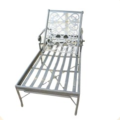 Metal Lounge Chair With Wheels Folding Covers And Sashes Ebth