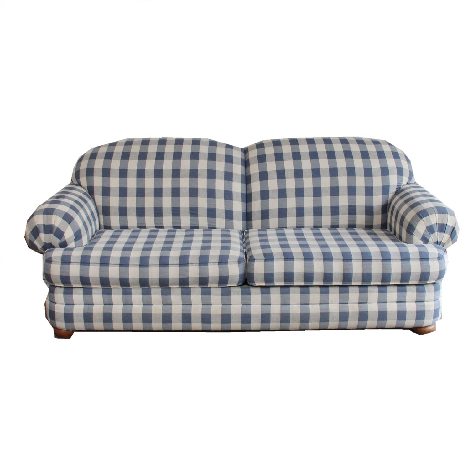 broyhill sleeper sofa fabric covers singapore blue and white plaid ebth