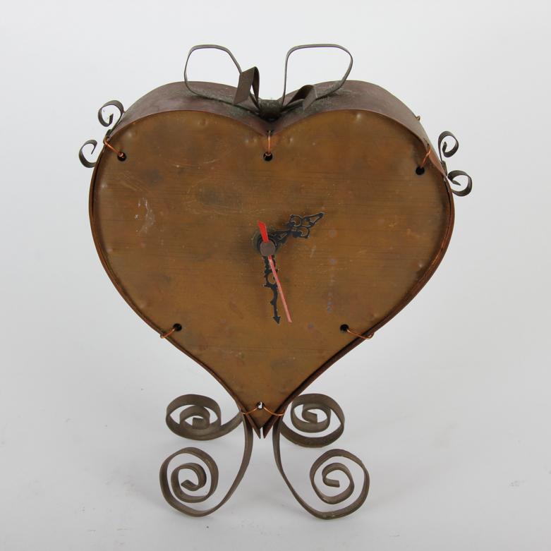 vintage copper heart shaped