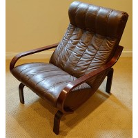 Mid Century Modern Norwegian Westnofa Rosewood and Leather ...