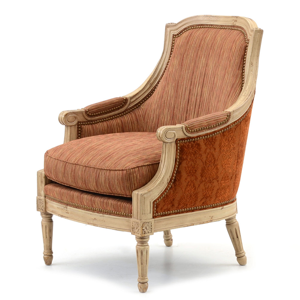 hickory chair louis xvi covers rental montreal style painted bergere by furniture ebth