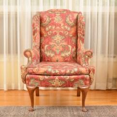 Floral Arm Chair High Back Covers Print Highback Ebth
