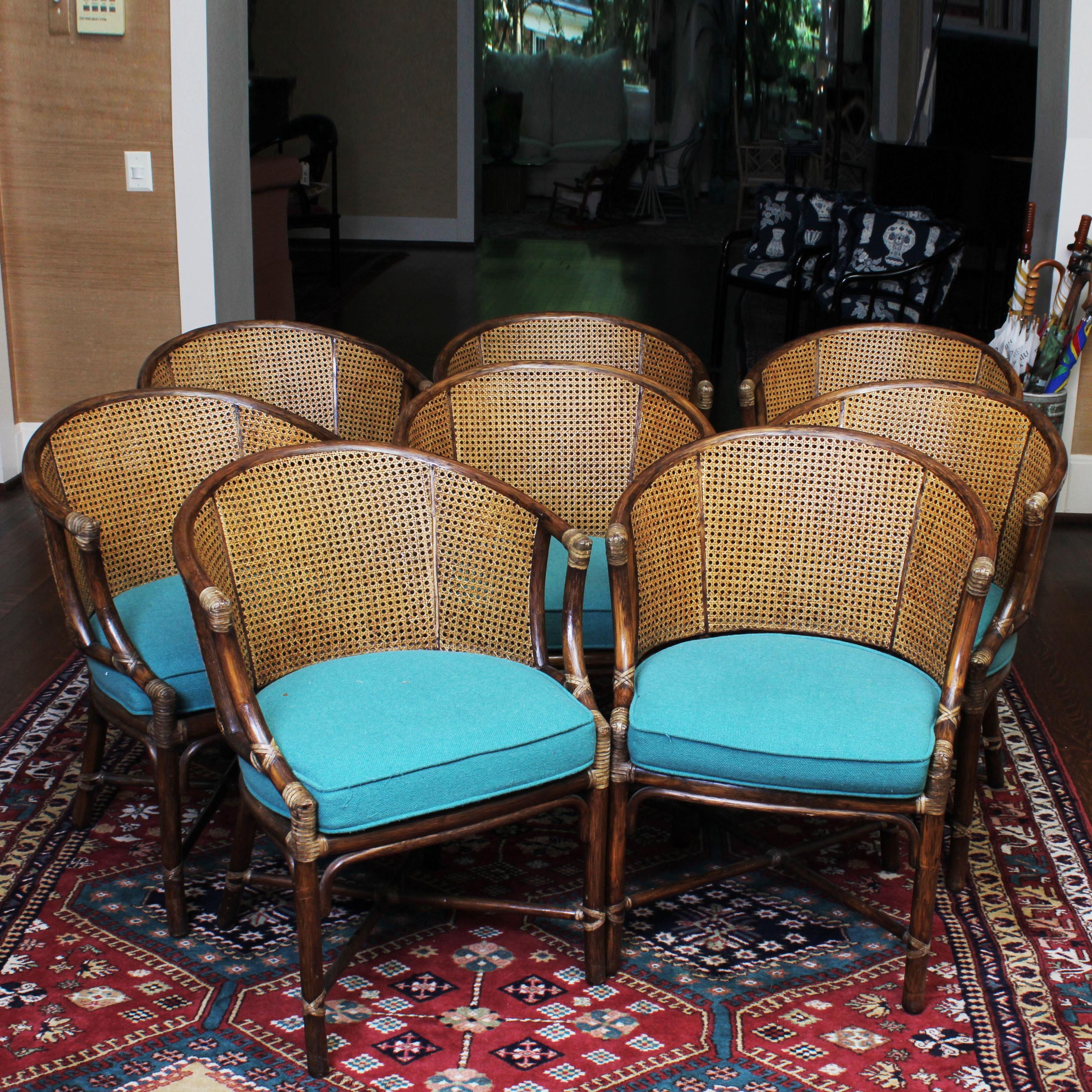 cane back chairs antique desk chair at target vintage mcguire of san francisco bamboo and