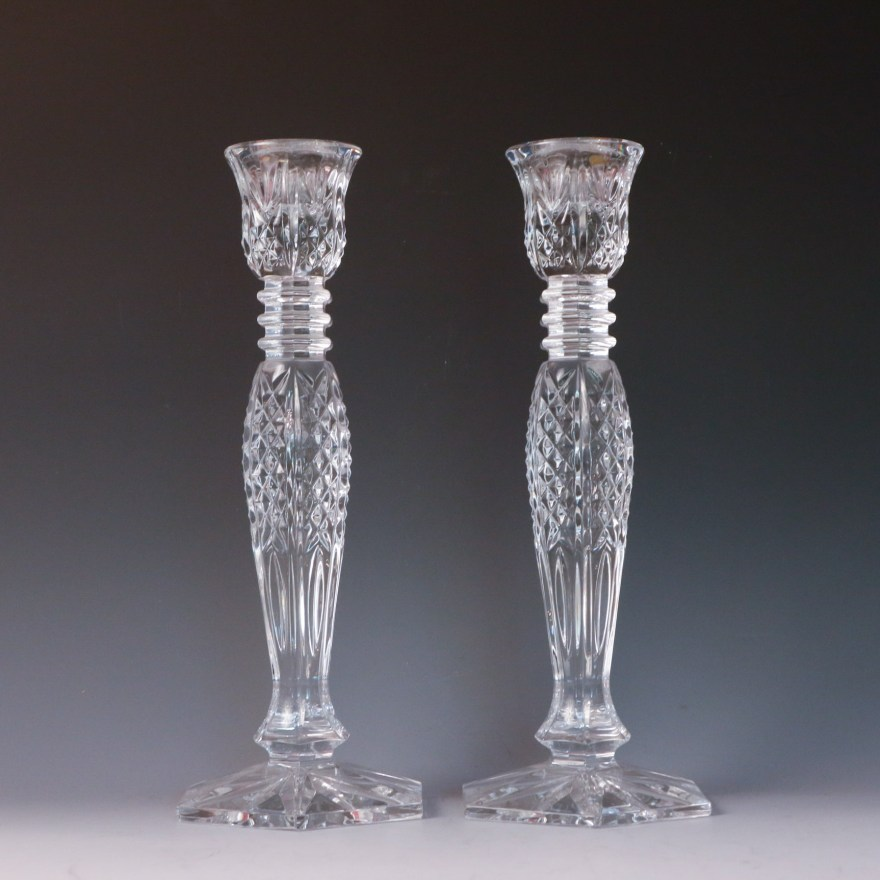 """Waterford Crystal """"colleen"""" Candlesticks Ebth"""