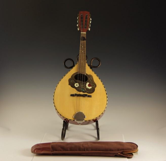 vintage mandolin and music