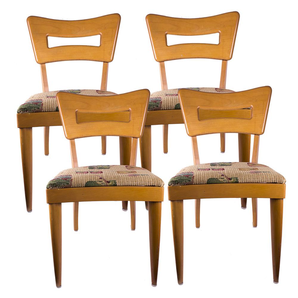 heywood wakefield dogbone chairs evenflo portable high chair champagne dining ebth