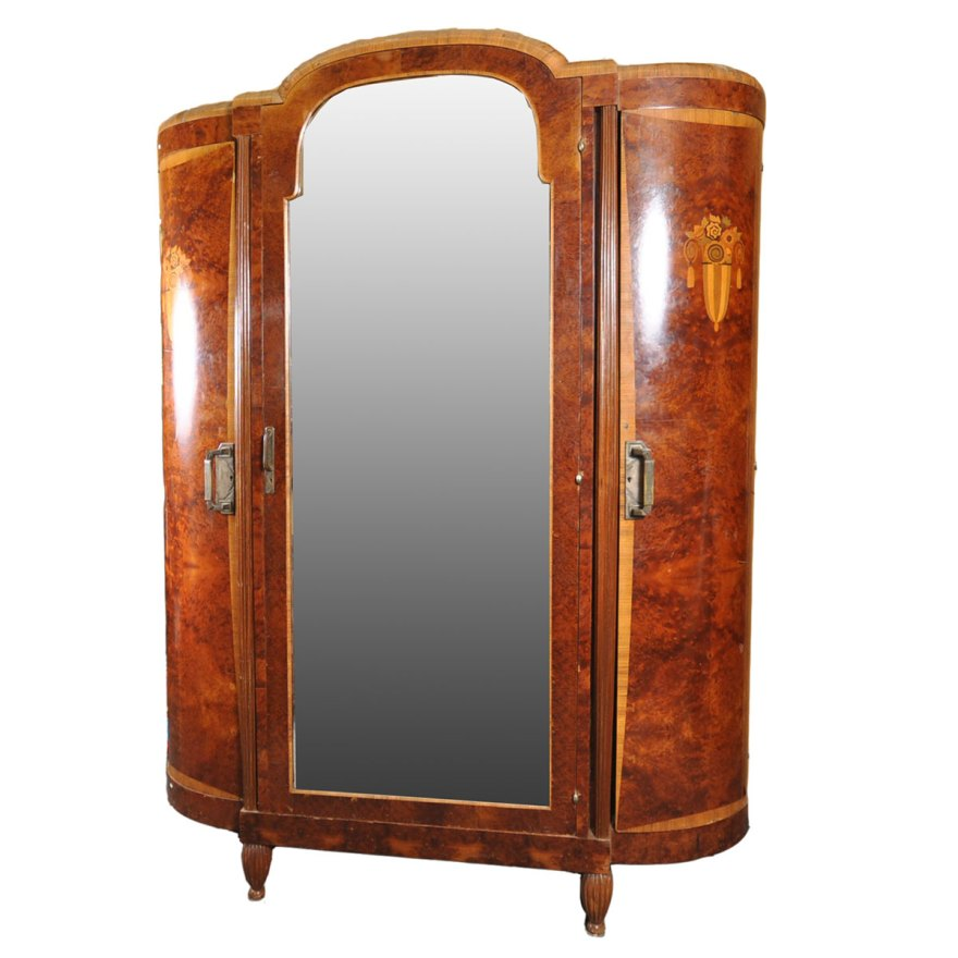 french art deco armoire with large mirror