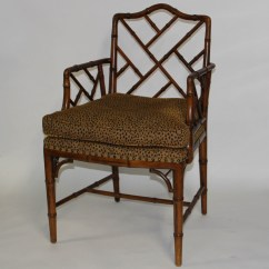 Styles Of Chairs Names Faux Leather Club Chair And Ottoman Pair Chinese Chippendale Style Ebth