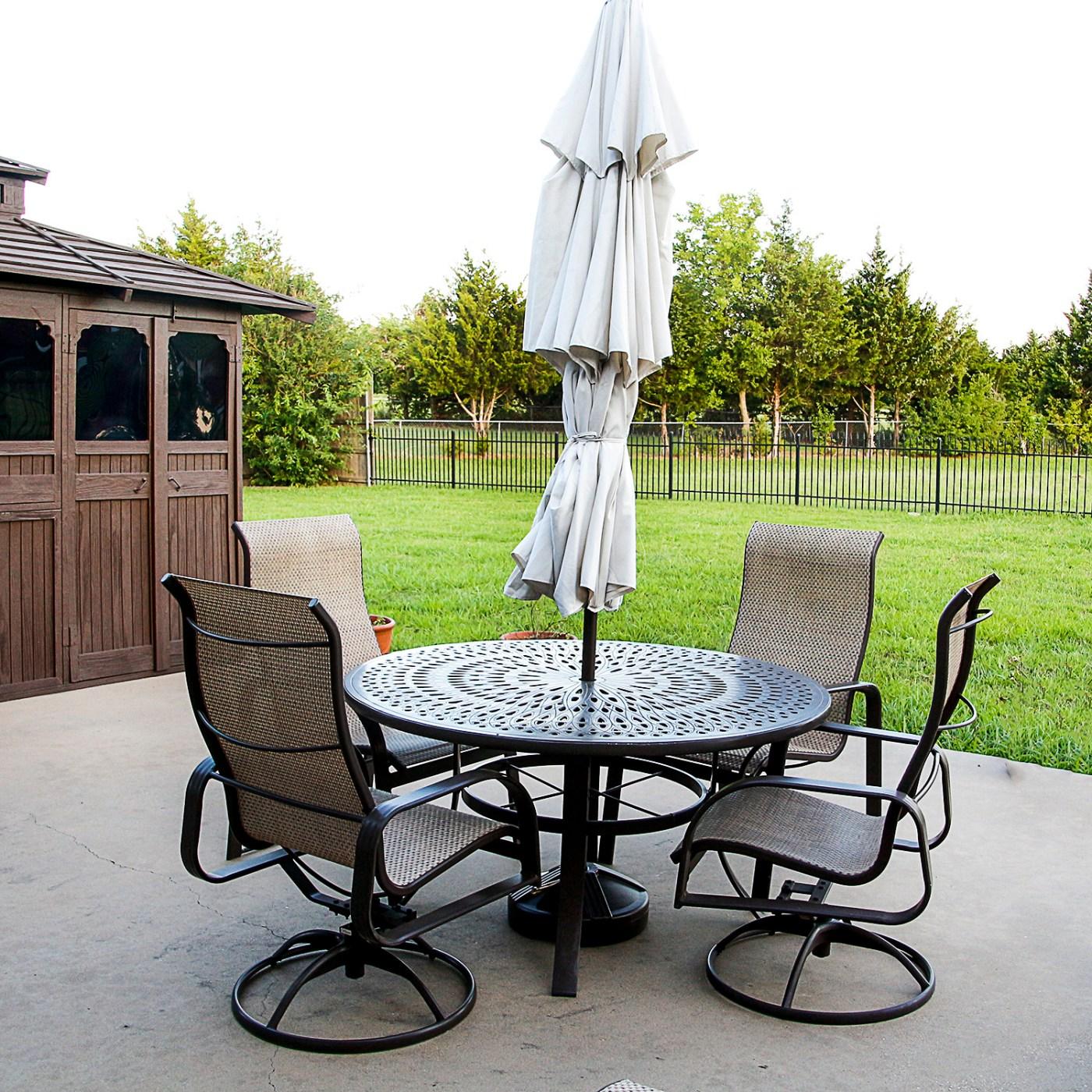 winston design patio table