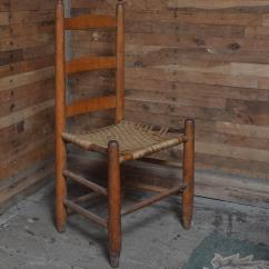 Shaker Ladder Back Chair Lounge Chairs Outdoor Target Primitive Style With Woven Seat Ebth