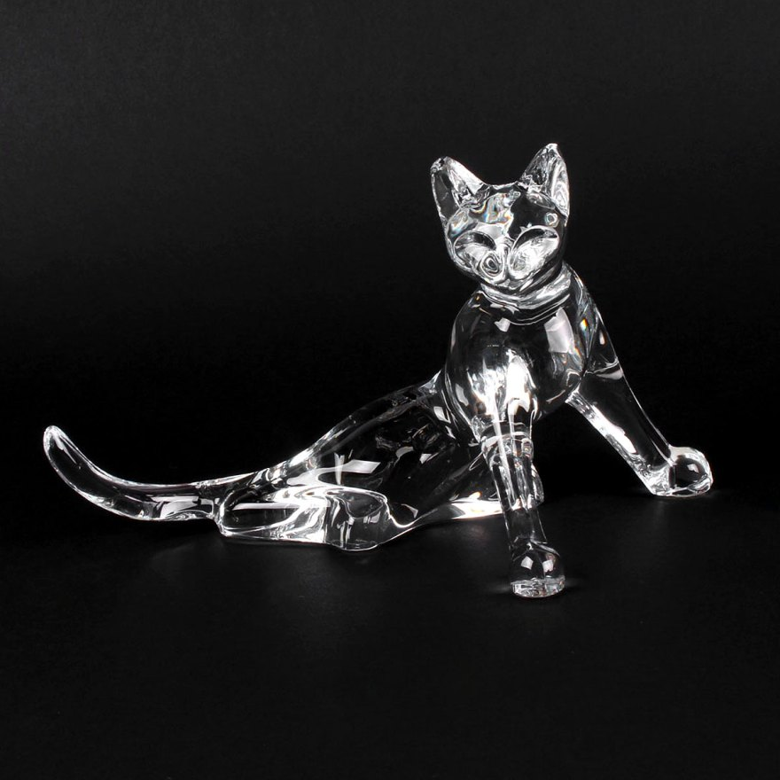 baccarat crystal cat