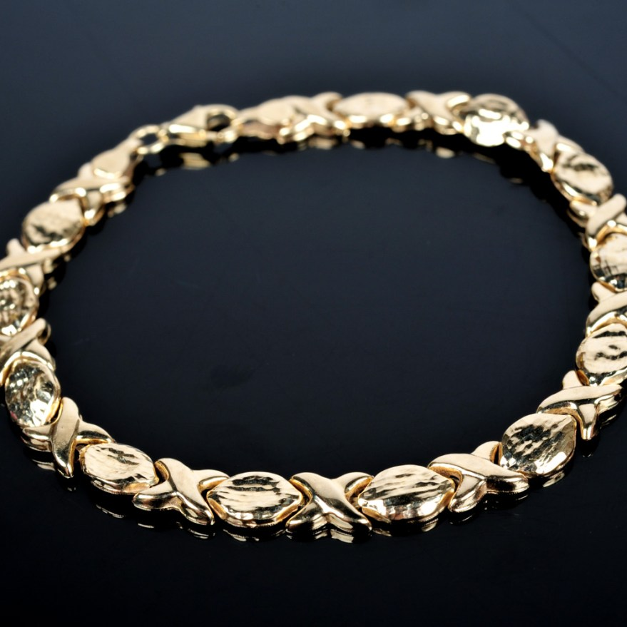 10k Yellow Gold Bracelet Ebth