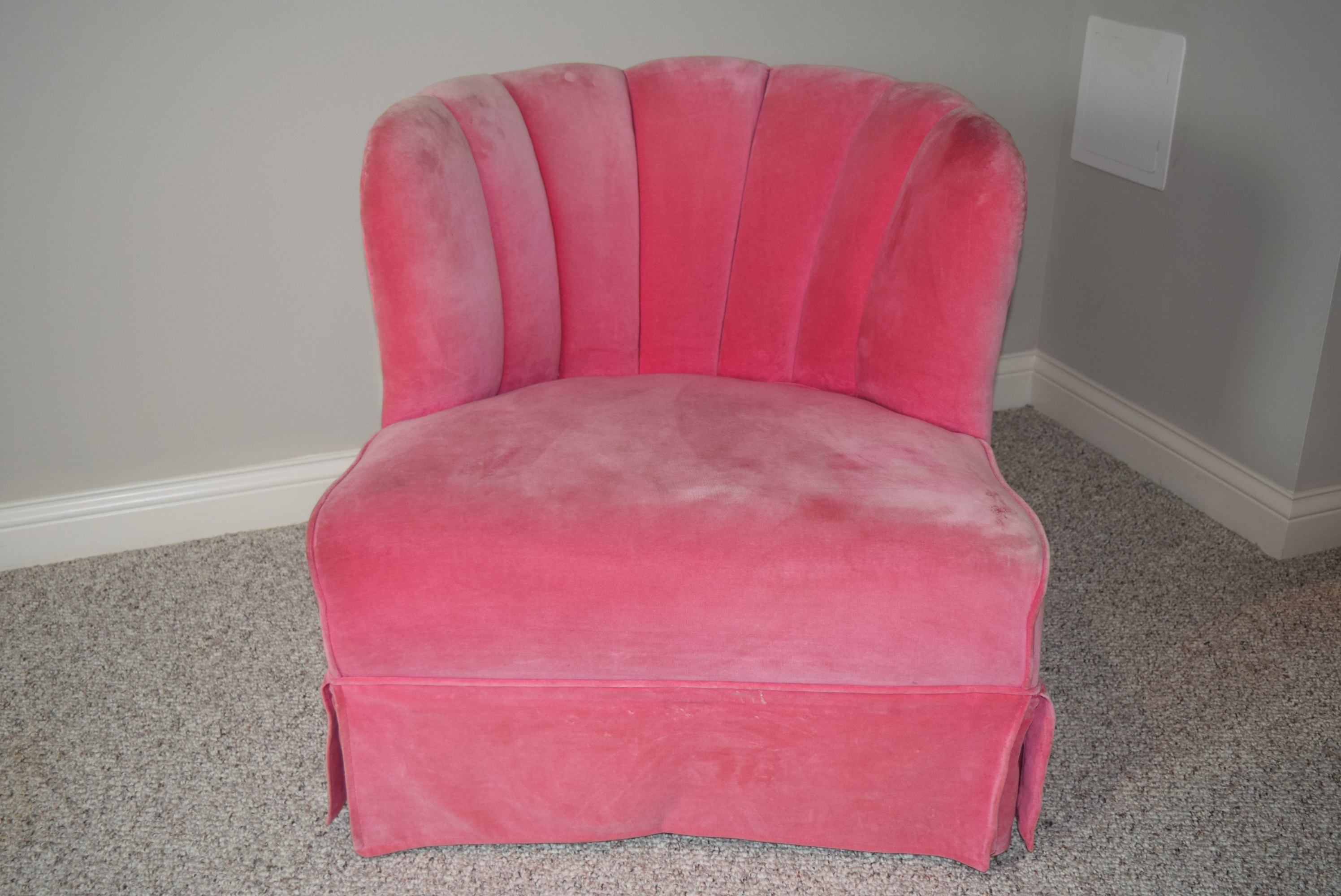 pink club chair covers in stores vintage ebth