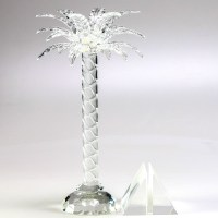 Shannon Crystal Palm Tree Candle Holder and Paperweight : EBTH