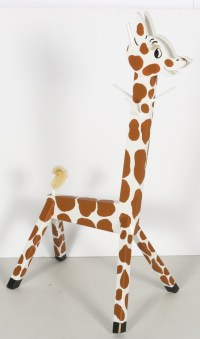 Giraffe Coat Rack, Book and Sweater : EBTH