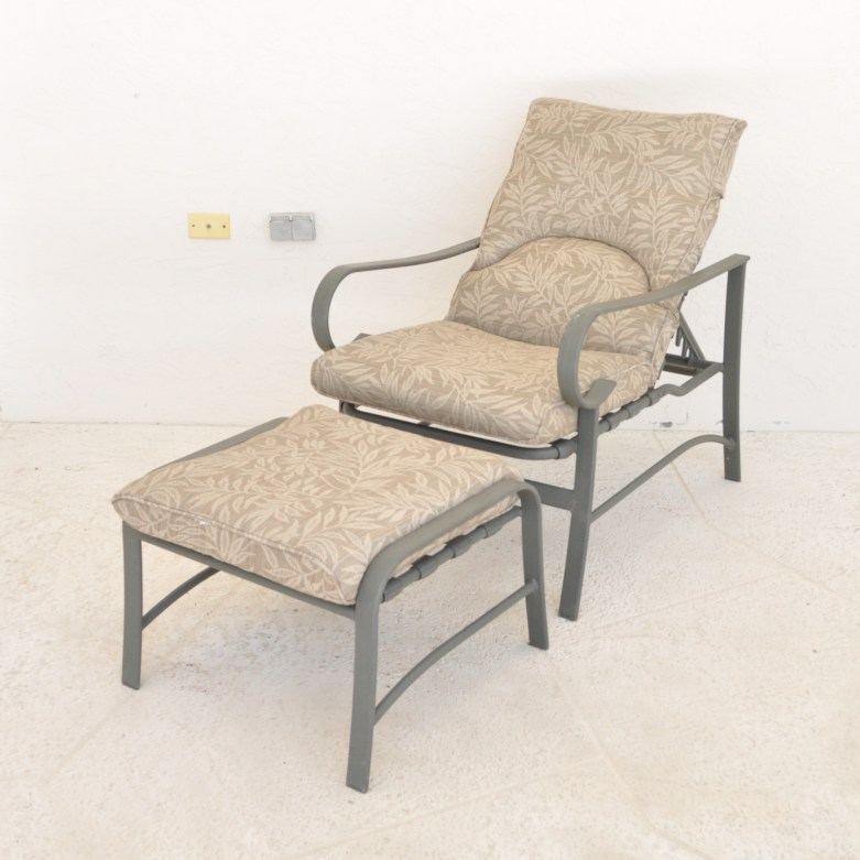 carter grandle reclining patio lounge chair and ottoman
