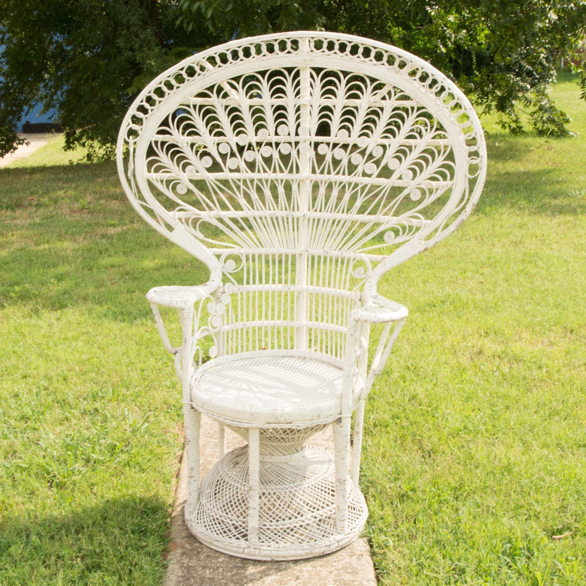fan back wicker chair stool price in pakistan white peacock ebth