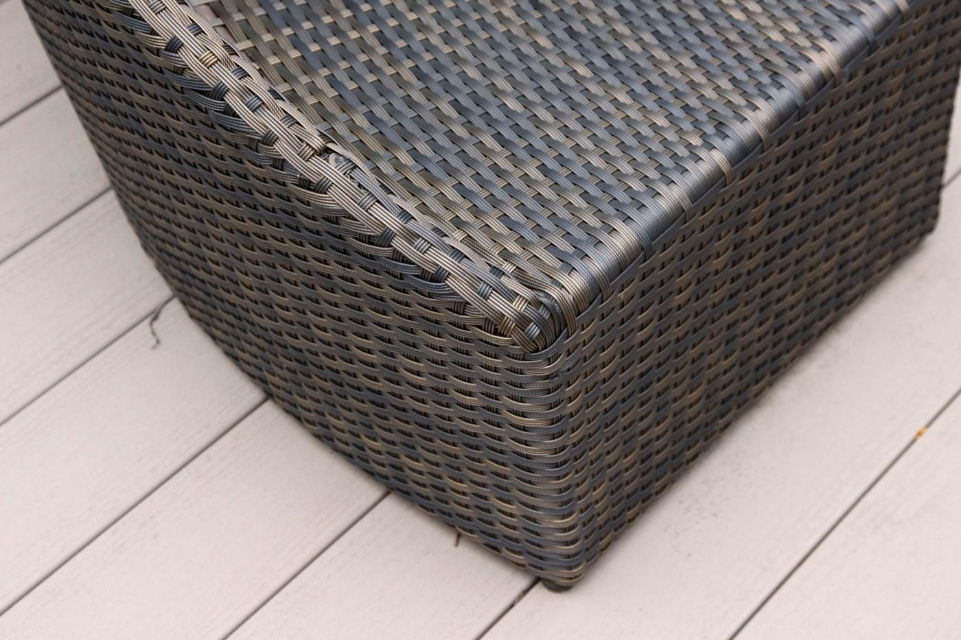 Frontgate Circle Woven Patio Bench Ebth