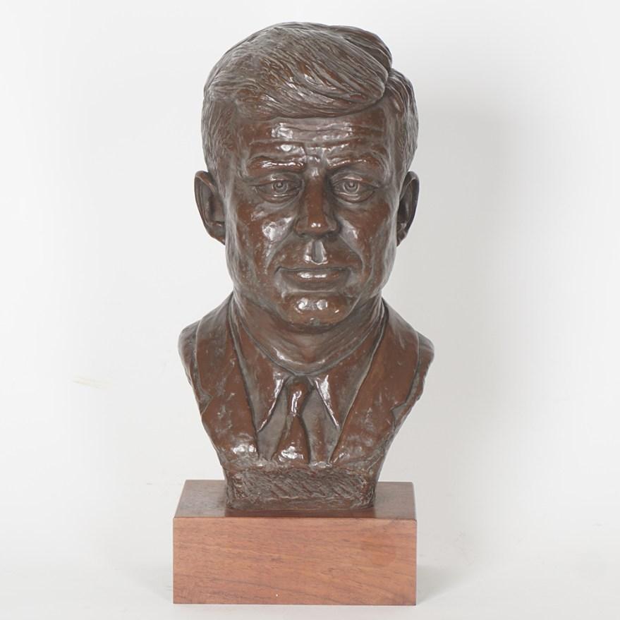 Alva Museum Replicas Jfk Bust . Lamkay Sculpture Ebth