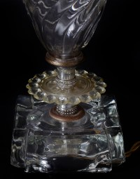 Vintage Green Lamp And Glass Leviton Lamp : EBTH