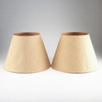 Pair of Beige Lamp Shades : EBTH