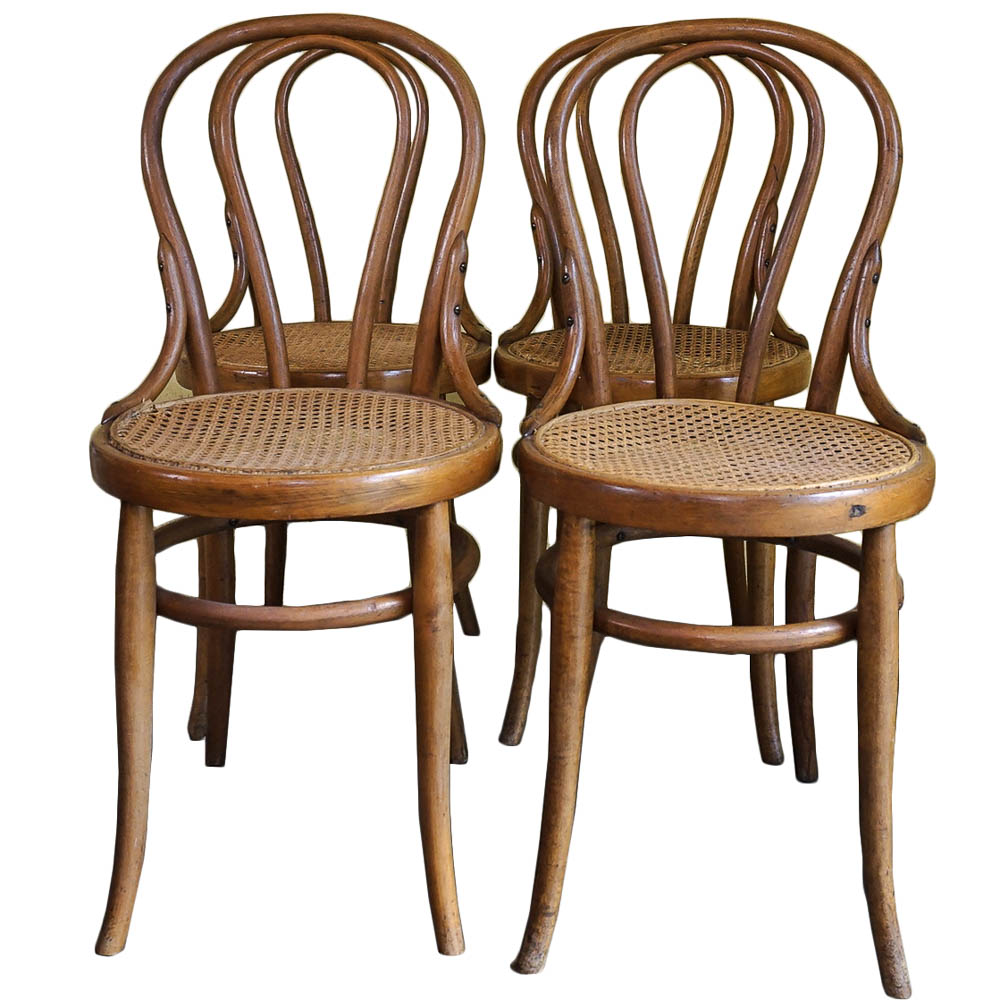 bentwood cane seat chairs high heel shoe chair value city four vintage ebth