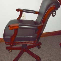 Poker Chairs With Casters Chair Covers For Desk Table Six Arm Ebth
