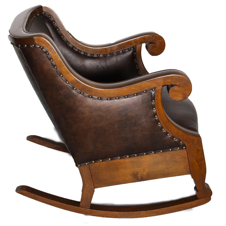 brown leather rocking chair panton s ebth