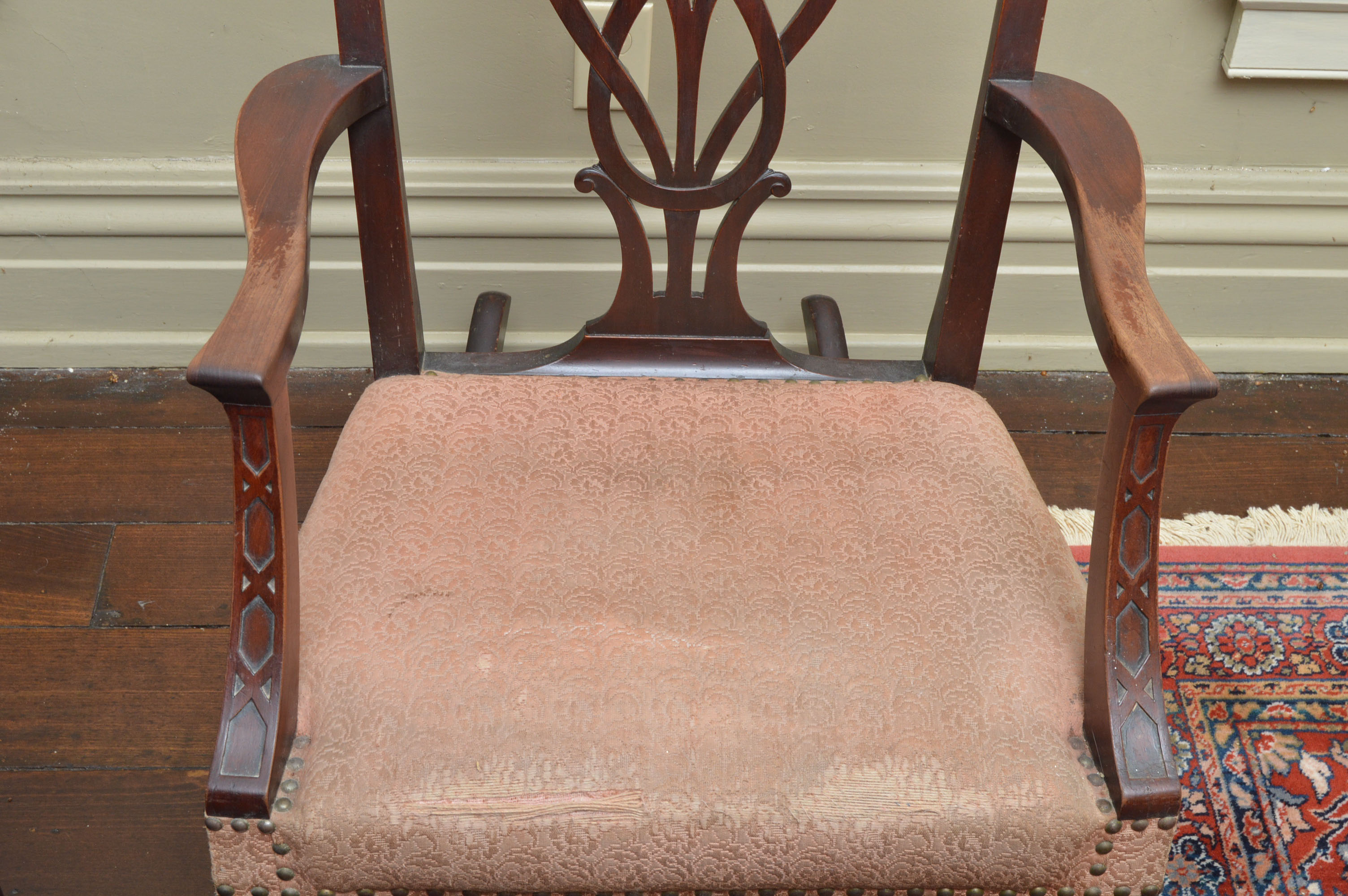 chippendale rocking chair toy doll bouncy antique style ebth