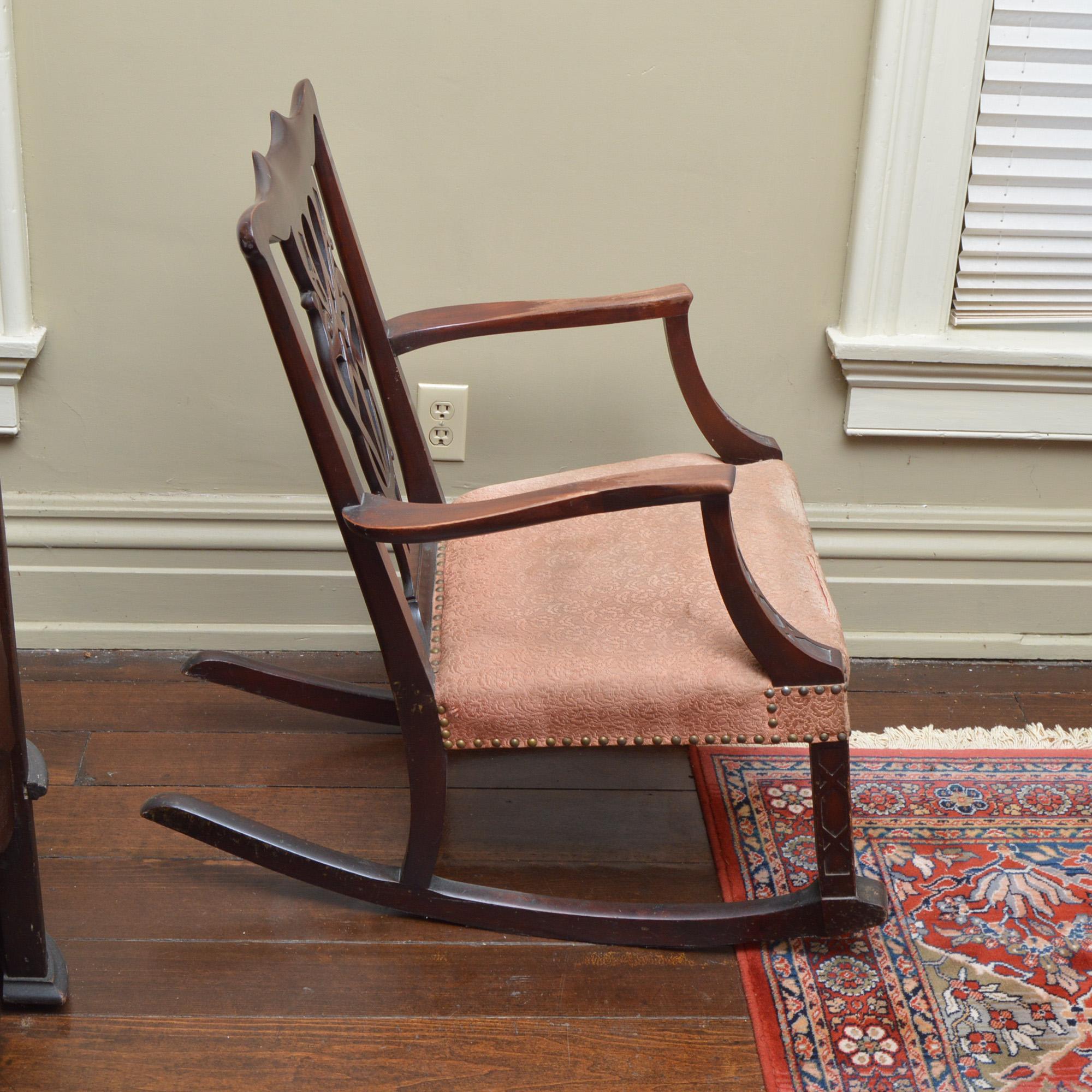 chippendale rocking chair inner balance zero gravity antique style ebth