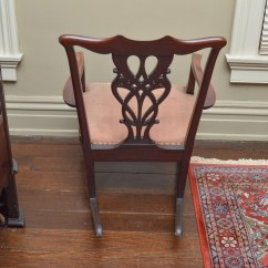 Chippendale Rocking Chair Bedroom Navy Blue Antique Style Ebth