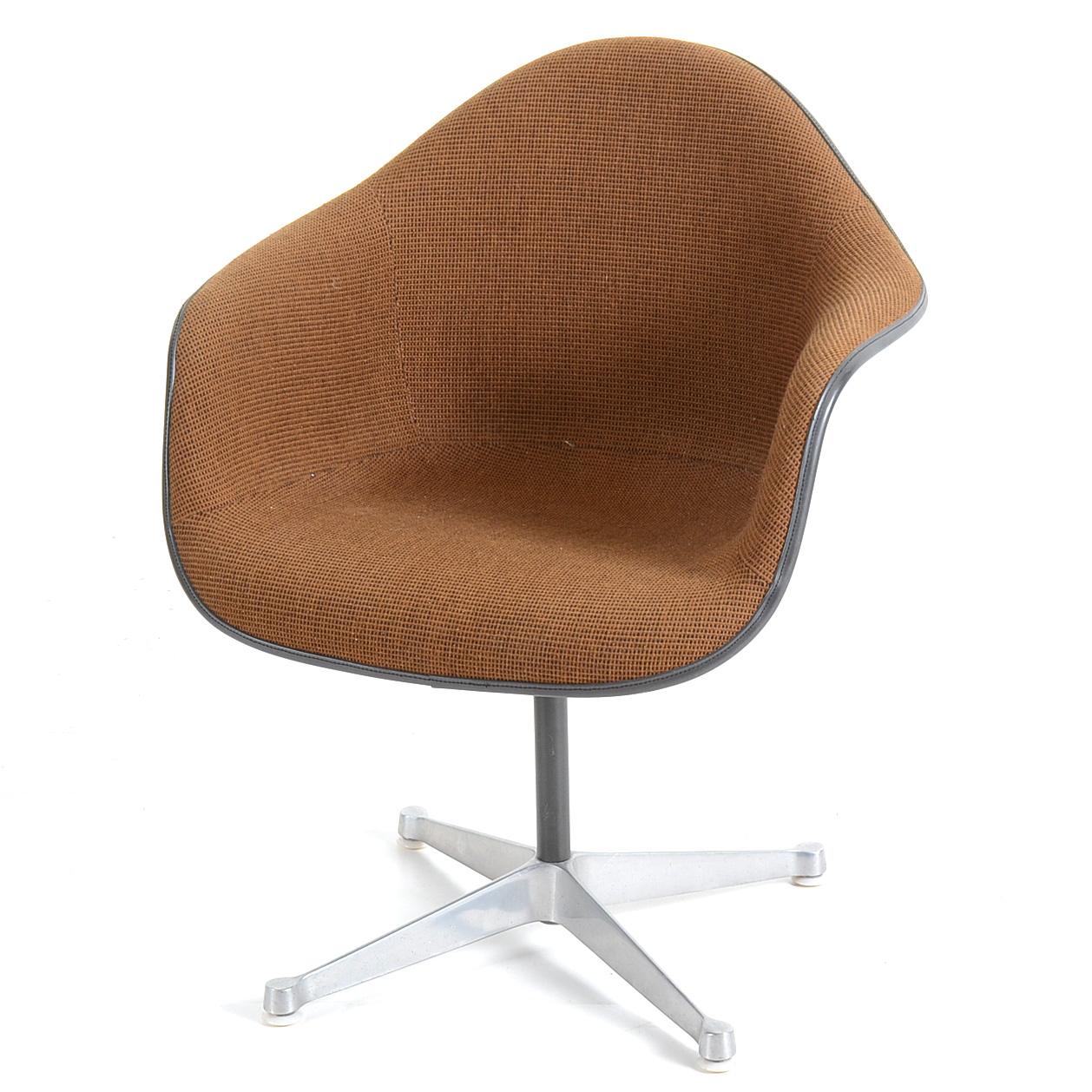 fiberglass shell chair potterybarn kids herman miller eames on swivel base ebth
