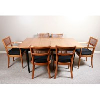 "Mid Century Modern Drexel ""Biscayne"" Dining Table and Six ..."