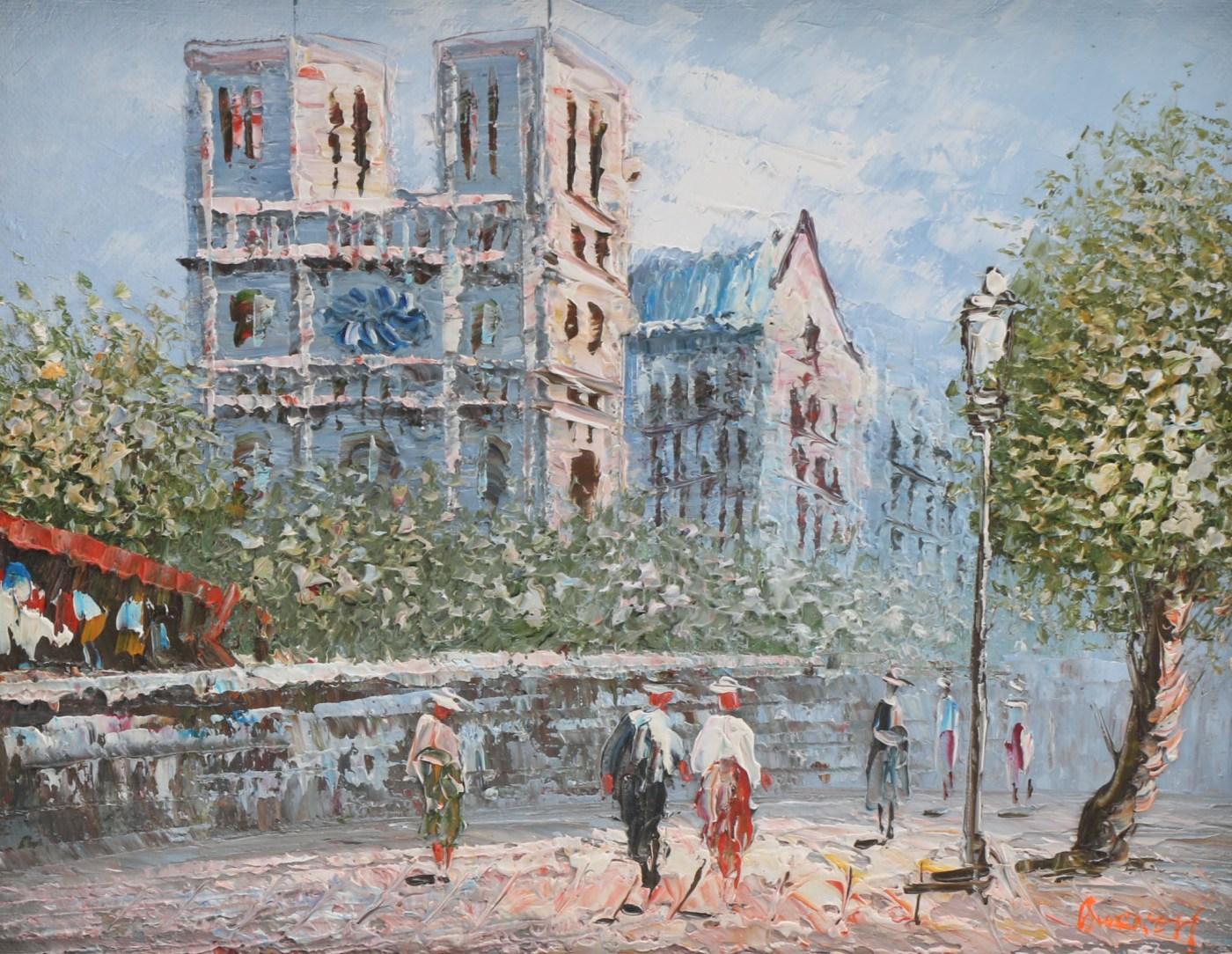Burnett Impressionist Painting Of Paris Ebth - Year of Clean