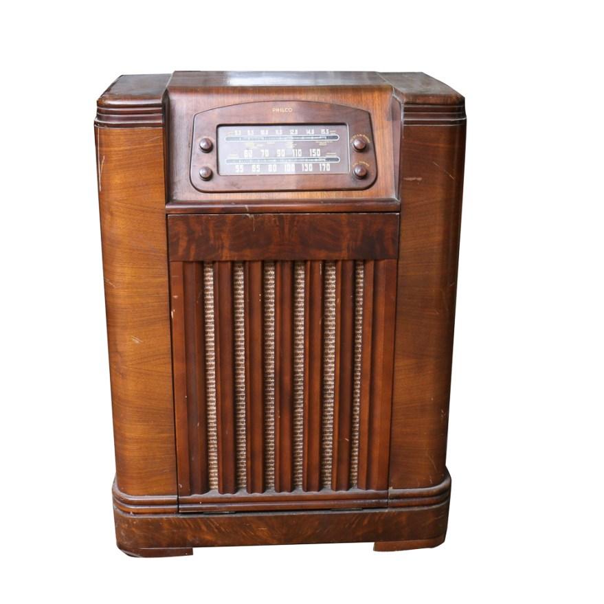 1940s Philco Radio Cabinet With Record Player Ebth