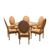 Contemporary Classical Style Dining Table with Louis XVI