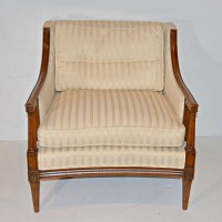 Louis XVI Style Plaid Barrel Back Chair : EBTH