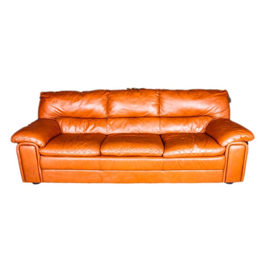 Caramel Color Leather Sofa Daniella Leather Sofa